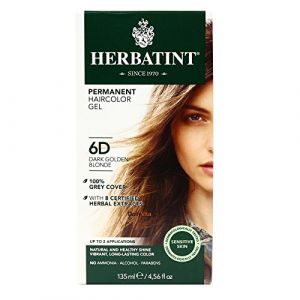 Herbatint Permanent Herbal Haircolour Gel 6D Dark Golden Blonde -- 135 mL by Herbatint (HerbsDaily EU, neuf)