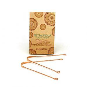 Nettoyeur de Langue à base de cuivre - Remède naturel contre l'halitose - pour une haleine fraîche et le nettoyage de la langue - Jihwa Dhauti - Dispositif Médical - Q.té 2 (Lynpha Vitale di Herborea Srl, neuf)