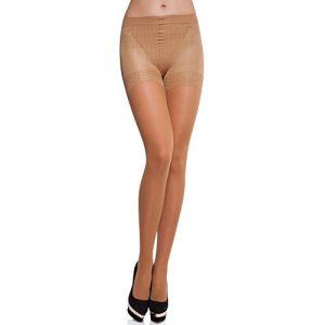 Merry Style Collant Sous-vêtement Minceur Gainant Push Up Femme MS 128 40 DEN (Neutre, M) (Hisert, neuf)
