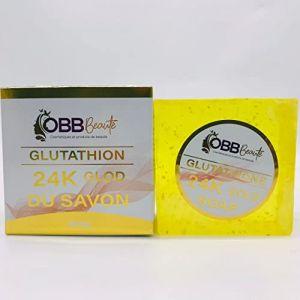 savon glutathione 24K or, soins pour la peau au Glutathione et collagène, brillant, blanc, beau 280g, éclaircissant et blanchissant, (OBBBeauté, neuf)