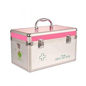 Médicament ménager voiture boîte à médicaments boîte de rangement des médicaments boîte de premiers soins boîte en métal serrure à médicaments boîte à médicaments boîte de rangement mu (GQP Boutiques, neuf)