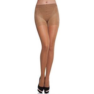 Merry Style Collant Sous-vêtement Minceur Gainant Push Up Femme MS 128 40 DEN (Gazelle, L) (Hisert, neuf)