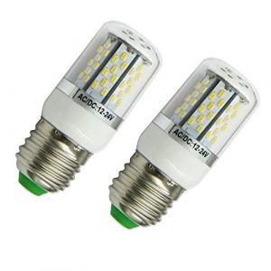 Aiyowei E275W Ampoule LED Maïs Ampoule avec couvercle 78–3014SMD AC/DC 12V-24V Explosion Proof Bougie lumières Blanc 6000K (lot de 2) (Blanc) (AIYOWEI, neuf)