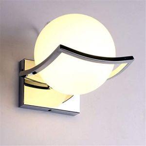 Geoco Applique Murale Interieur LED, Support En Métal En Acier Inoxydable, Moderne Lampe de Mur Sphérique Pour Salon, Chambre, Couloir (Lighting Nine, neuf)