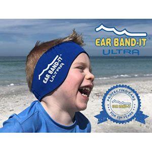 Ear Band-It Natation Bandeau (retenir l' Eau, maintenez Bouchons Oreilles) recommandé par Le médecin et Protection Contre l' Eau Les Petits (1-3 Ans) Bleu (audilo, neuf)