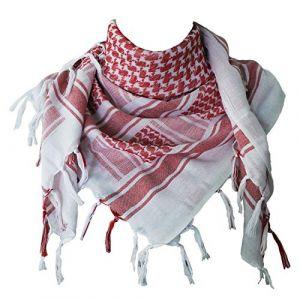 Explore Land 100 % coton militaire Shemagh désert tactique keffieh foulard Wrap (Rouge et Blanc) (ABSOLUTE DISCOUNT, neuf)