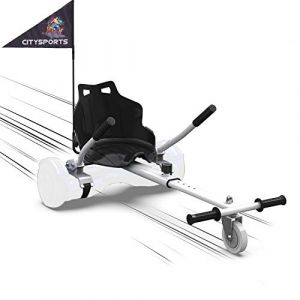 """MARKBOARD HoverKart pour Self-Balance Scooter / Kart Siège pour Gyropode, Scooter Électrique, Ajustable Compatible avec Scooter 6.5"""", 8.5"""", 10"""" Scooters (Blanc) (SOUTHERN-WOLF, neuf)"""