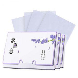 Papier buvard de contrôle d'huile de conception portative, parfum de lavande, 300 feuilles (Koala Superstore EURO, neuf)
