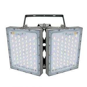 Projecteur LED 200W, IP65 Imperméable, 18000LM, Eclairage Extérieur LED, Equivalent à Ampoule Halogène 1200W, 5000K Lumière Blanche du Jour, Projecteur réglable pour granges, cour et garage (Langx lights, neuf)