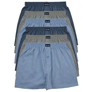 MioRalini Top Offre 6 Boxer Homme Couleur unie, Article: 6 avec intervention SET05, Taille: M-5 (MioRalini, neuf)