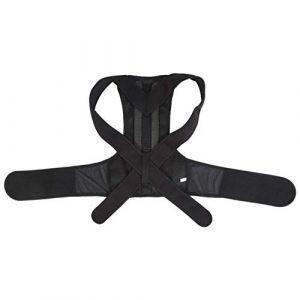 Correcteur de posture, Ceinture de correction à bosse, Ceinture de correction à bosse réglable noire Correcteur de posture Correcteur de soulagement des maux de dos(XXL) (Greeflu, neuf)