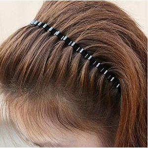 Unisexe Printemps Noir Wave en métal Hoop Bandeau Cheveux Fille accessoire de Bandeau (1PC) pour homme par Trifycore (LvSeShengMing, neuf)