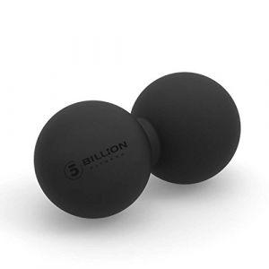 5BILLION Balle Massage Double Massage Ball - Balle Lacrosse & Boule de Massage pour Massage Dos - Outil Massage pour Physiotherapie (Noir) (5BIllion FItness, neuf)