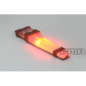 ATAIRSOFT Casque sécurité H414 V-Lite Sac à LED E-Lite lumière stroboscopique Lampe Torche Tactique de Base pour extérieur Airsoft Chasse Camping Bleu Red (WorldShopping4U, neuf)