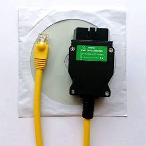 Enet OBD Câble, interface de diagnostic Ethernet OBDII, codage E-SYS de la série F, programmation du câble OBD2 (9-long, neuf)