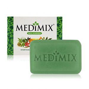 10 MEDIMIX Savon ayurvedique 75 Grammes avec les extraits de 18 herbes puissantes protége contre le probléme de peau, bouton d'acné et démangeaisons (10 Pièces) (ELEGANCE INDIAN STORE, neuf)