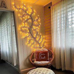 Arbre Lumineux LED, Decoration Murale interieur Lumières de Vigne D'arbre 144 LEDs Décoration de Noël Chambre Maison (Blanc Chaud, Branchez) (newnen, neuf)