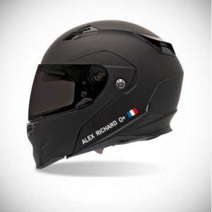 Autocollant pour casque de moto sticker Identité - couleur sticker - turquoise (Stickers64000, neuf)
