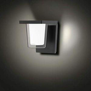 FLORNIA Applique Murale Extérieure LED Grise Lampe Extérieure pour Jardin, Patio, Garage, Cour 4000K 800LM 13W IP65 (Sans Capteur PIR) (FLORNIA, neuf)
