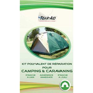 Kit polyvalent de réparation instantanée et sans colle pour tentes, sacs de couchage, matelas, bâches, toiles et autres matériels de camping et caravaning (NTS Europe, neuf)