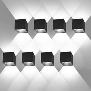? Pièces Applique Murale Interieur/Exterieur 12W 6000K Applique Murales Exterieur Angle de faisceau réglable Lampe Murale Etanche IP65 (ezon europe, neuf)