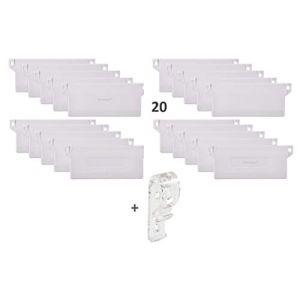 Venezia Lot 20-127mm Poids pour Stores verticaux - Plaque de Lestage Store Californien Poids - avec Clips de sécurité pour Enfants et Animaux domestiques (The Exhibition Shop, neuf)