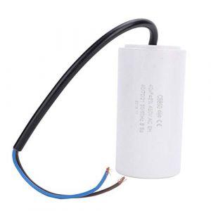 Condensateur 40uF CBB60, condensateur courant de moteur respectueux de l'environnement CBB60 450V 40uf ESR 0,2 pour l'appareil électroménager électrique, condensateur de démarrage de moteur (Vikye, neuf)