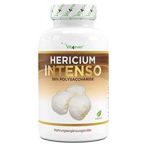 Hericium Erinaceus Intenso Mushroom - 1300 mg par portion journalière - Dosage élevé avec 30% de polysaccharides - Extrait de champignon de barbarie Hedgehog - Végétalien (Vit4ever, neuf)
