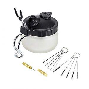 Ausuc aérographe Pistolet Lavage Nettoyage Outils 4 Set Kit de Nettoyage à l'aérographe,Pot de Nettoyage, brosses de Nettoyage, Nettoyage des Aiguilles,Aiguille Nettoyage (Ausuc Tec, neuf)