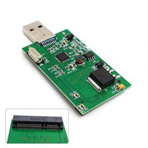 CY Mini Adaptateur Carte Externe SSD PCBA PCI-E mSATA vers USB 3.0 - Sans Boîtier (Cablecc, neuf)