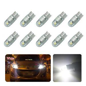 FEZZ 10pcs CANBUS Ampoules LED T10 3030 2SMD Feux de position Plaque Lampe Lecture Auto Voiture Intérieur Blanc (WINRR, neuf)