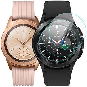 KIMILAR Samsung Galaxy Watch 42mm Protection Écran, [3 Pack] Protecteur D'écran en Verre Trempé pour Samsung Galaxy Watch (42mm) - 9H Dureté, Anti-scratch, Anti-bulles (EZEU, neuf)