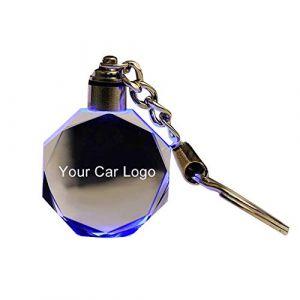Steellwingsf Porte-clés en verre découpé à LED pour Audi VW Benz Ford BMW, multicolore, for s-koda (Steellwingsf, neuf)
