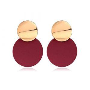 Épingles d'oreilles boucles d'oreilles pour femmesboucles d'oreilles acrylique géométrique rouge balancent boucle d'oreille mariage Brincorouge 5 (Graceguoer, neuf)
