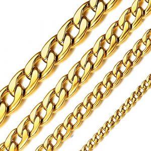 ChainsHouse-Chaîne cubaine épaisse-Collier étanche-Miami Lien cubain chaîne-Longueur 71CM-Collier en Acier Inoxydable (ChainsHouse Jewellery, neuf)