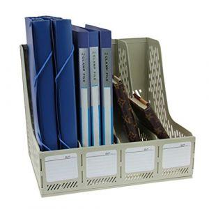 Boîte De Rangement Module De Classement En Polypropylène Rangement de Dossiers Classement de Magazine Document Stockage Pour Bureau Classeur Papier A4 X 4 Compartiments (JiahongUK, neuf)