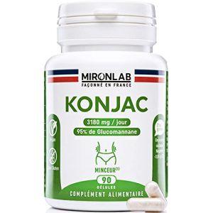 Konjac complément minceur 530mg / gélule | 95% de glucomannanes | 90 gélules végétales | Idéal pour perdre du poids naturellement | Fabriqué en France MironLab (Santilico, neuf)