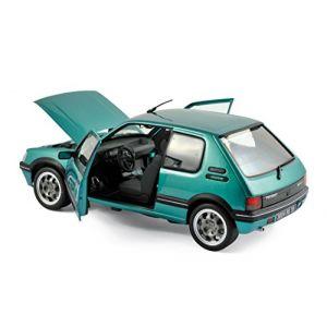 Véhicule Miniature - Peugeot 205 GTI Griffe 1.9L 1990 - Vert - Echelle 1:18 NOREV - Exclusivité Internet (easy-shop-express, neuf)