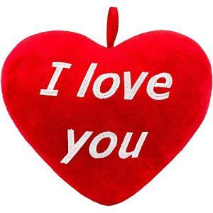 BSLIAO Peluche peluche animal coeur rouge je t'aime enfants cadeau de vacances 32 cm (lizhaowei531045832, neuf)