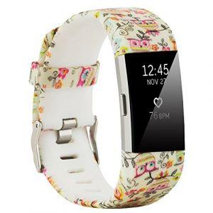Fit-power Bracelet de rechange sport souple et réglable pour Fitbit Charge2, type 3, Small Size (Molitececool, neuf)