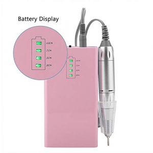 Clou Manucure Percer Machine 30000RPM Acrylique Électrique Manucure Appareil Portable Clou Art Équipement Décorations pour Ongles,Pink (LJUAND DIANHUA, neuf)