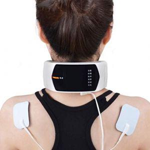 Appareil de massage électrique, appareil de massage cervical à impulsion du cou, outil de massage à télécommande sans fil, adaptateur de massage physique intelligent et masseur plus (DuoBaiHuoDian, neuf)