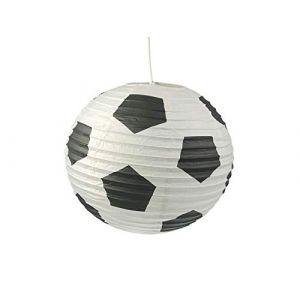Papier Lampe pour chambre d'enfant-Abat-jour avec motif football-Suspension avec suspension (setpoint, neuf)