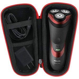 pour Philips AT750/20 S3510/08 AT890/20 PT739/20 rasoir électrique Dur Cas étui de Voyage Housse Porter by Khanka (For series 3000/ AT899, Black zipper) (Khankastore-EU, neuf)