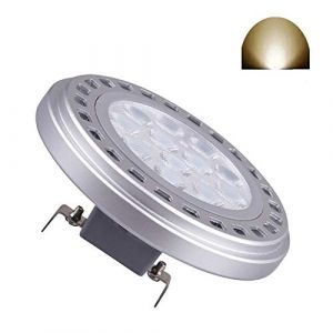 Spot Ampoule LED AR111 G53 15 W 30 ° Faisceau Angle De Vue LumièRe Du Jour 4000K SMD 15leds D'EntréE AC DC 12V Spot RéFlecteur LumièRes 1200LM 100 W ES111 Qr111 Ampoule HalogèNe De Remplacement (Qleeteck, neuf)
