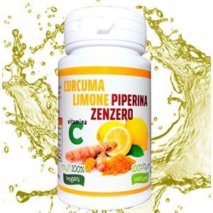 CURCUMA PIPERINE CITRON ET GINGEMBRE - 130 cpr (NATURALSPRINT, neuf)