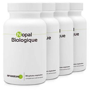 NOPAL BIOLOGIQUE * PACK 3+1 GRATUIT * 470 mg / 720 gélules * Cardiovasculaire (glucose), Digestion, Poids * Fabriqué en France (ANASTORE BIO, neuf)