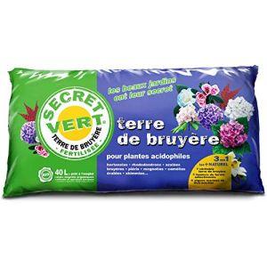 Secret Vert Terre de bruyère Bio pour Plantes acidophiles 40 litres (jardindeco, neuf)