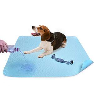 Lot de 2tapis de propreté très absorbants pour chien et chiot avec jouet à mâcher en coton - Séchage rapide, lavable en machine, réutilisable, 91,4x 78,7cm (U-picks, neuf)