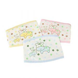 HEALIFTY nouveau-né ventre bande bébé ventre bande ceinture ombilicale infantile ceinture de protection du nombril 3 PCS (motif aléatoire et couleur) (Rasecor, neuf)